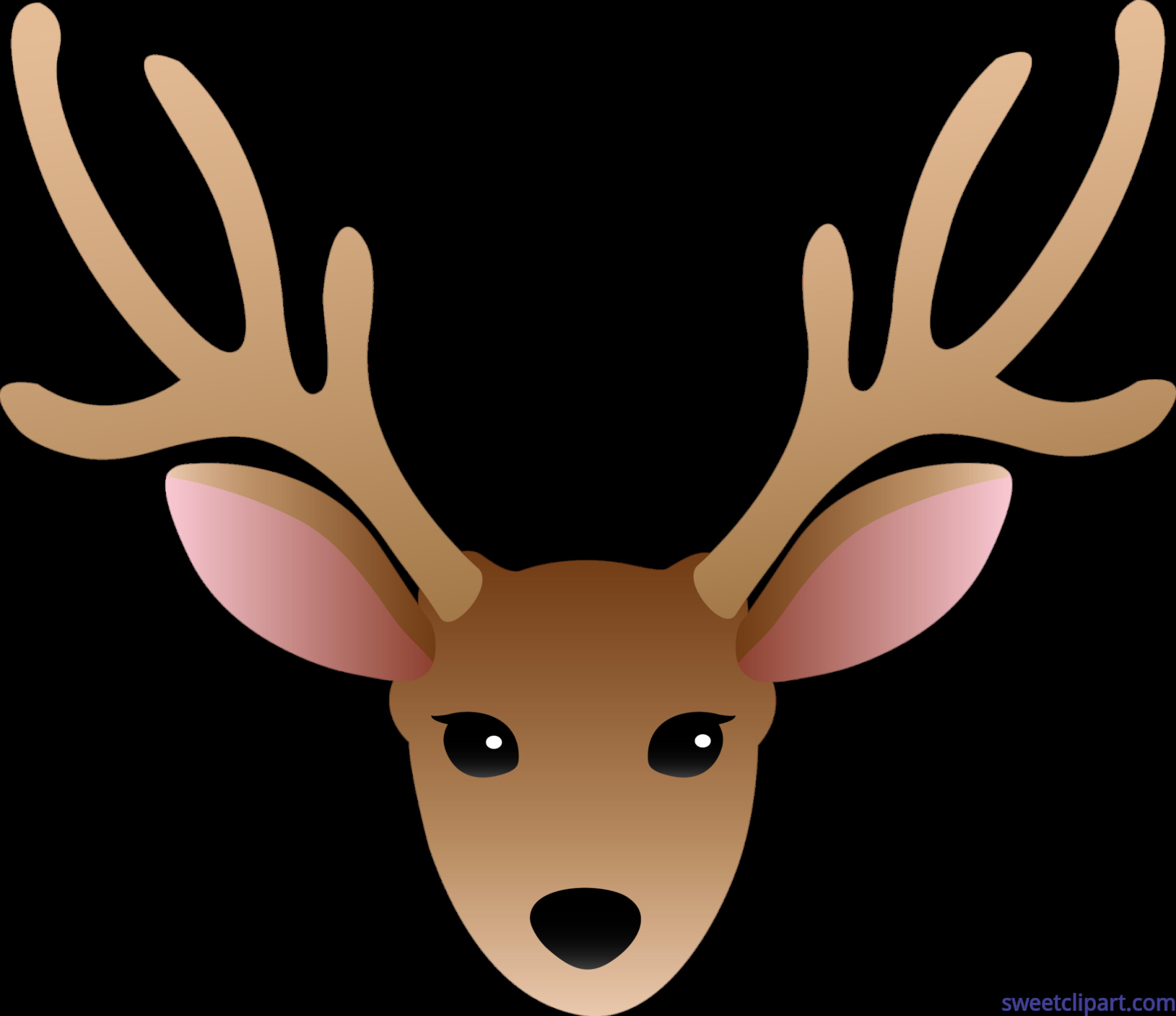 deer head male clip art sweet clip art rh m sweetclipart com deer head clip art black and white deer head clip art black and white