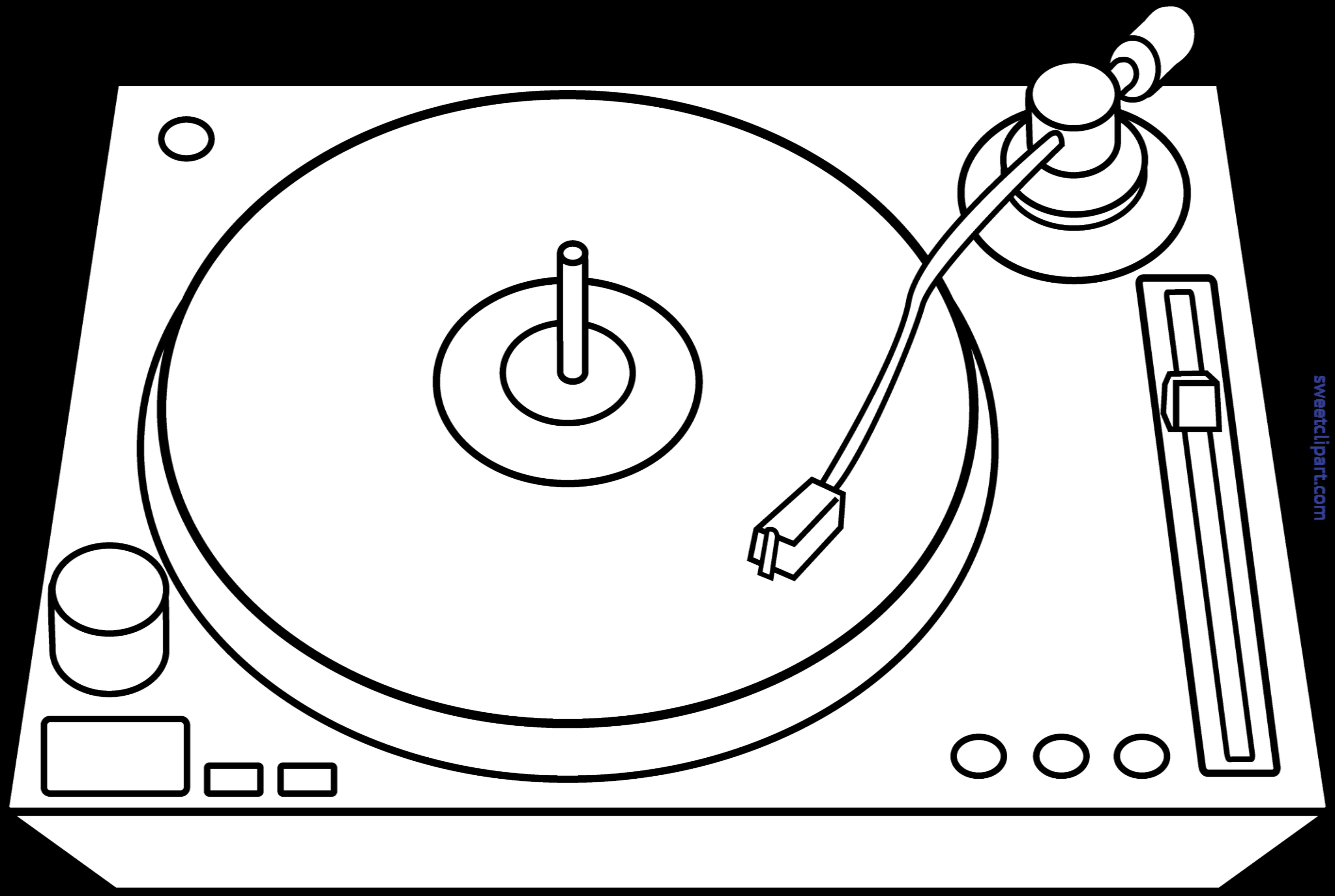 dj turntable lineart clip art sweet clip art rh m sweetclipart com DJ Turntables Graffiti Art DJ Clip Art