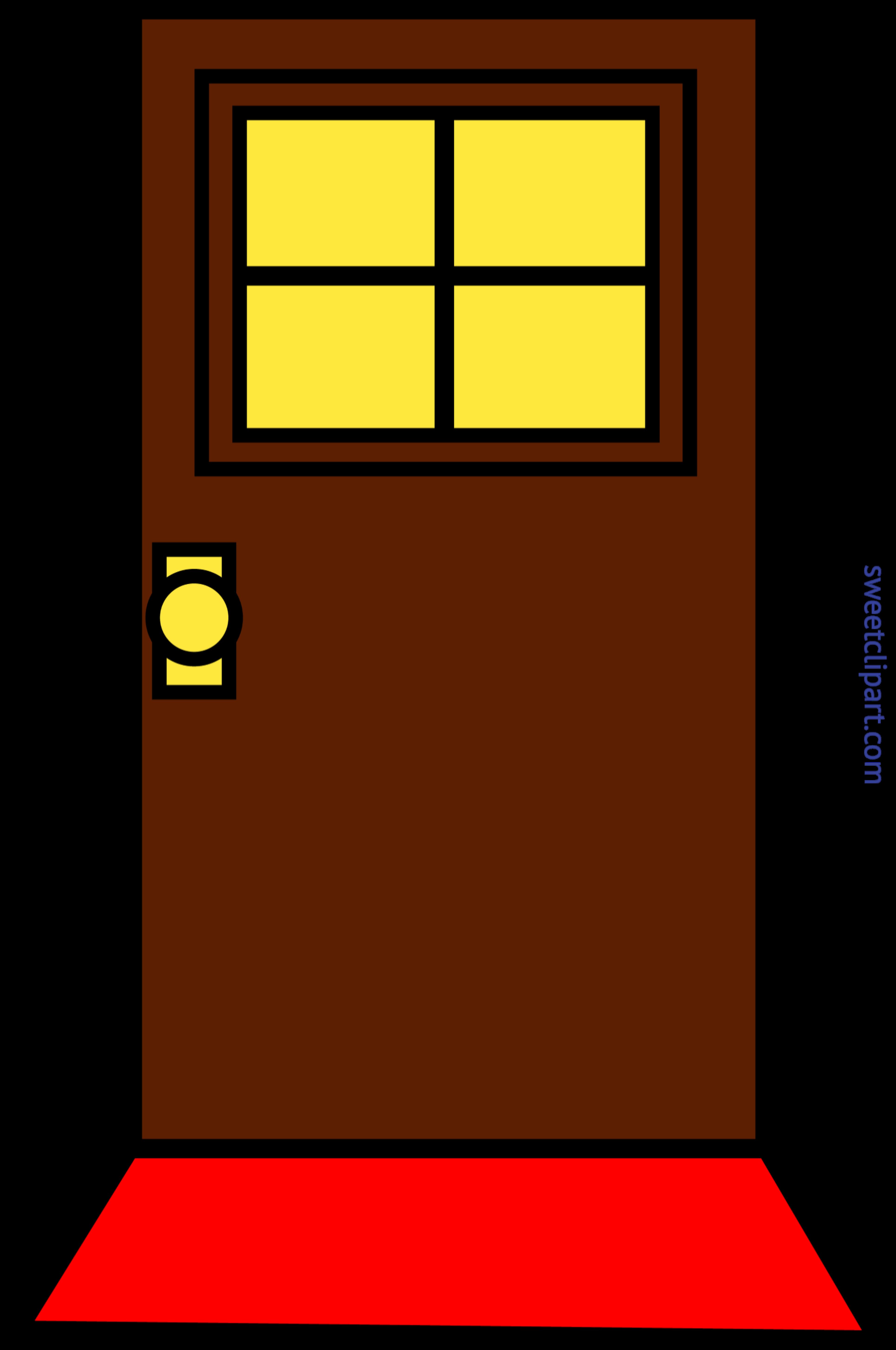domestic simple brown door clip art sweet clip art rh m sweetclipart com door clipart free door clipart transparent