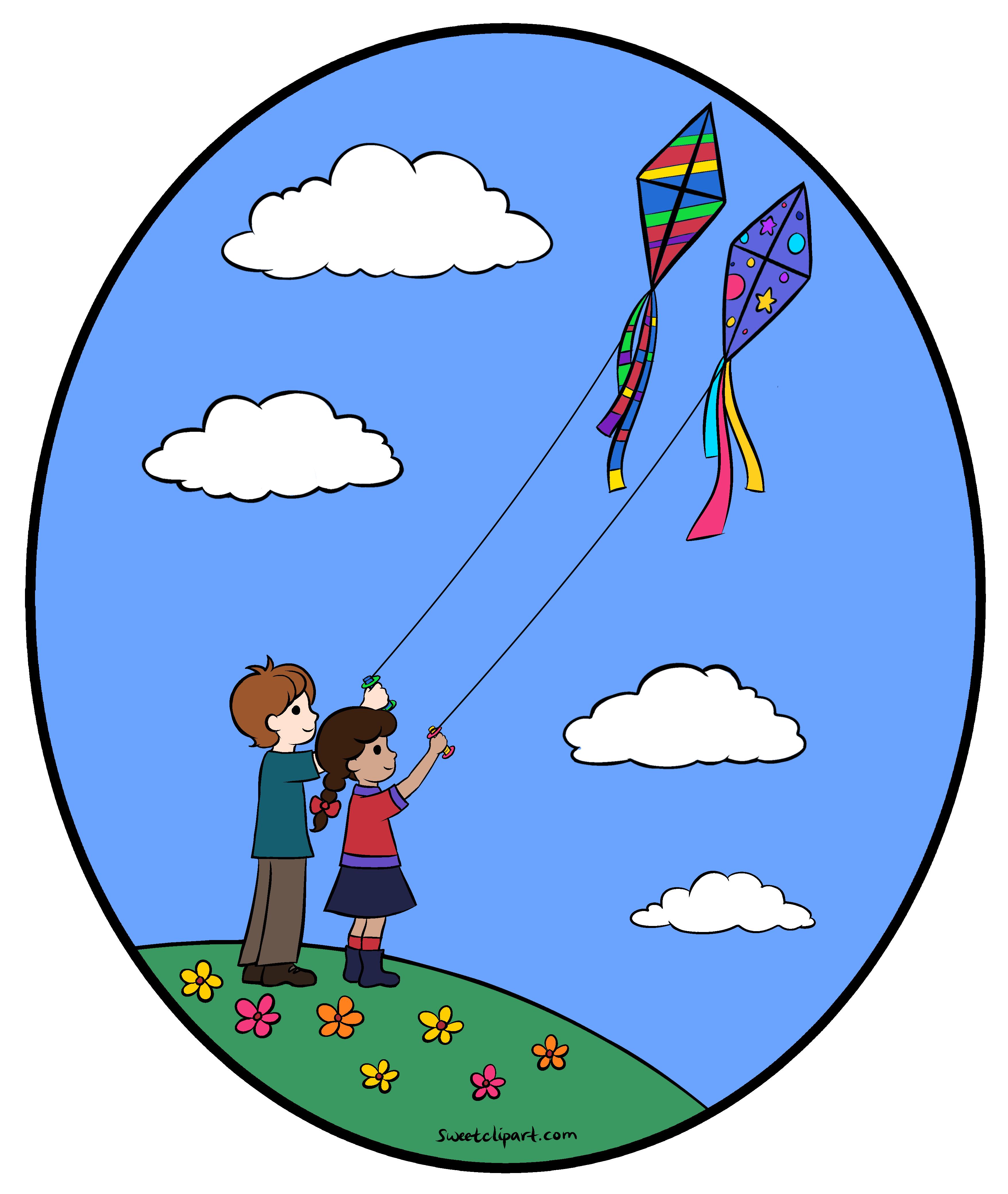 flying kites color clip art sweet clip art rh m sweetclipart com kites clip art images kites clipart