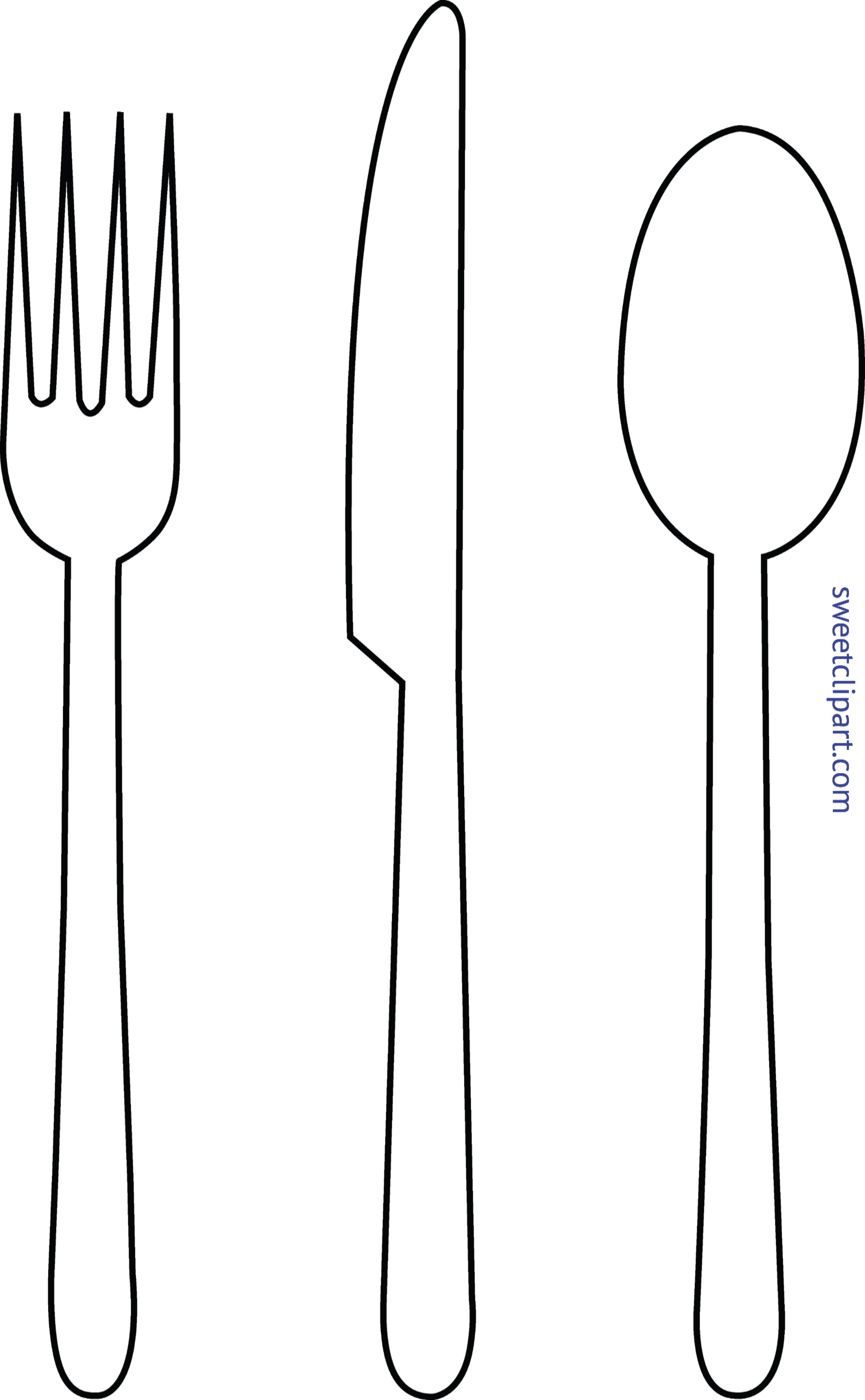 fork knife spoon lineart clip art sweet clip art rh m sweetclipart com fork knife spoon clipart spoon and fork crossed clipart