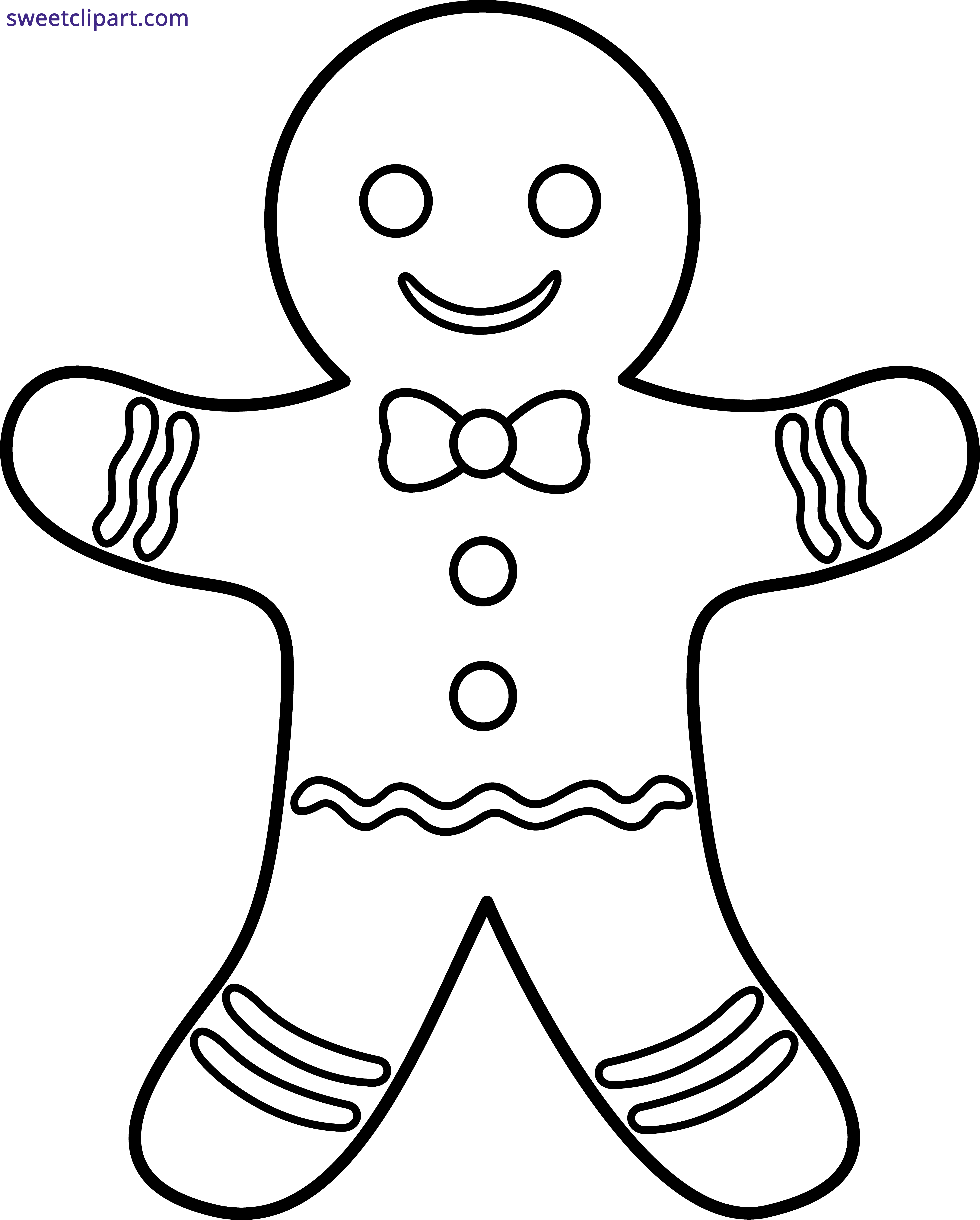 Gingerbread man outline clipart sweet clip art gingerbread man outline clipart voltagebd Image collections