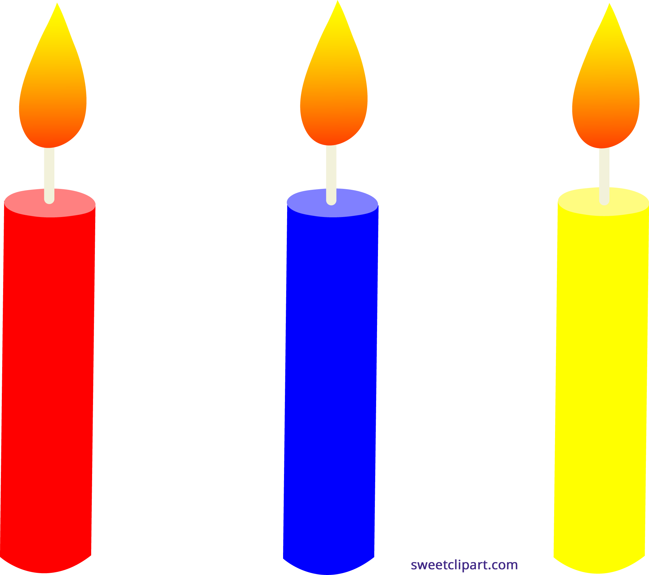 Well-known Holidays Birthday Candles Trio 1 Clipart - Sweet Clip Art FI46