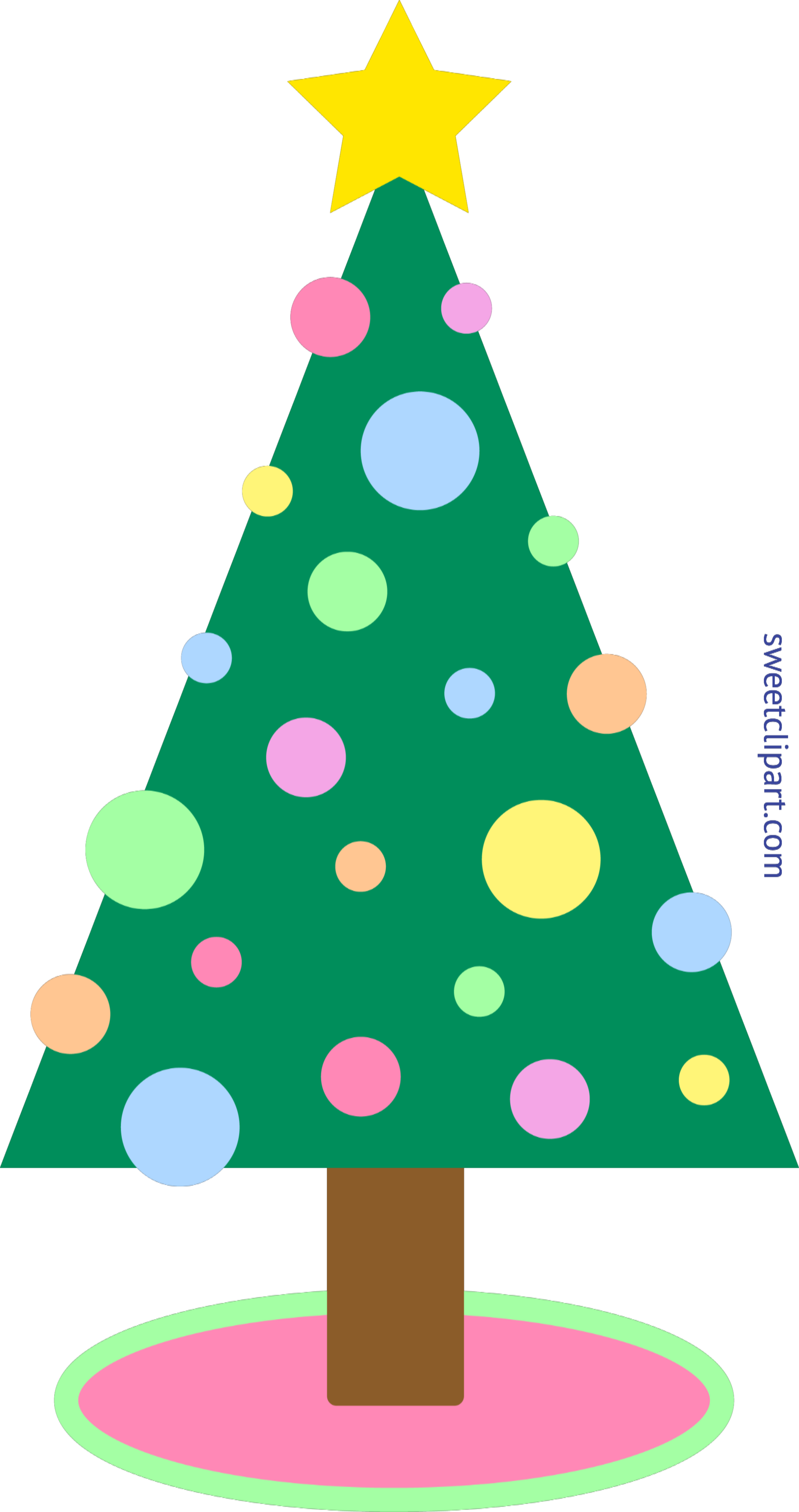 Clipart Christmas Tree.Christmas Tree Pastel Clip Art Sweet Clip Art