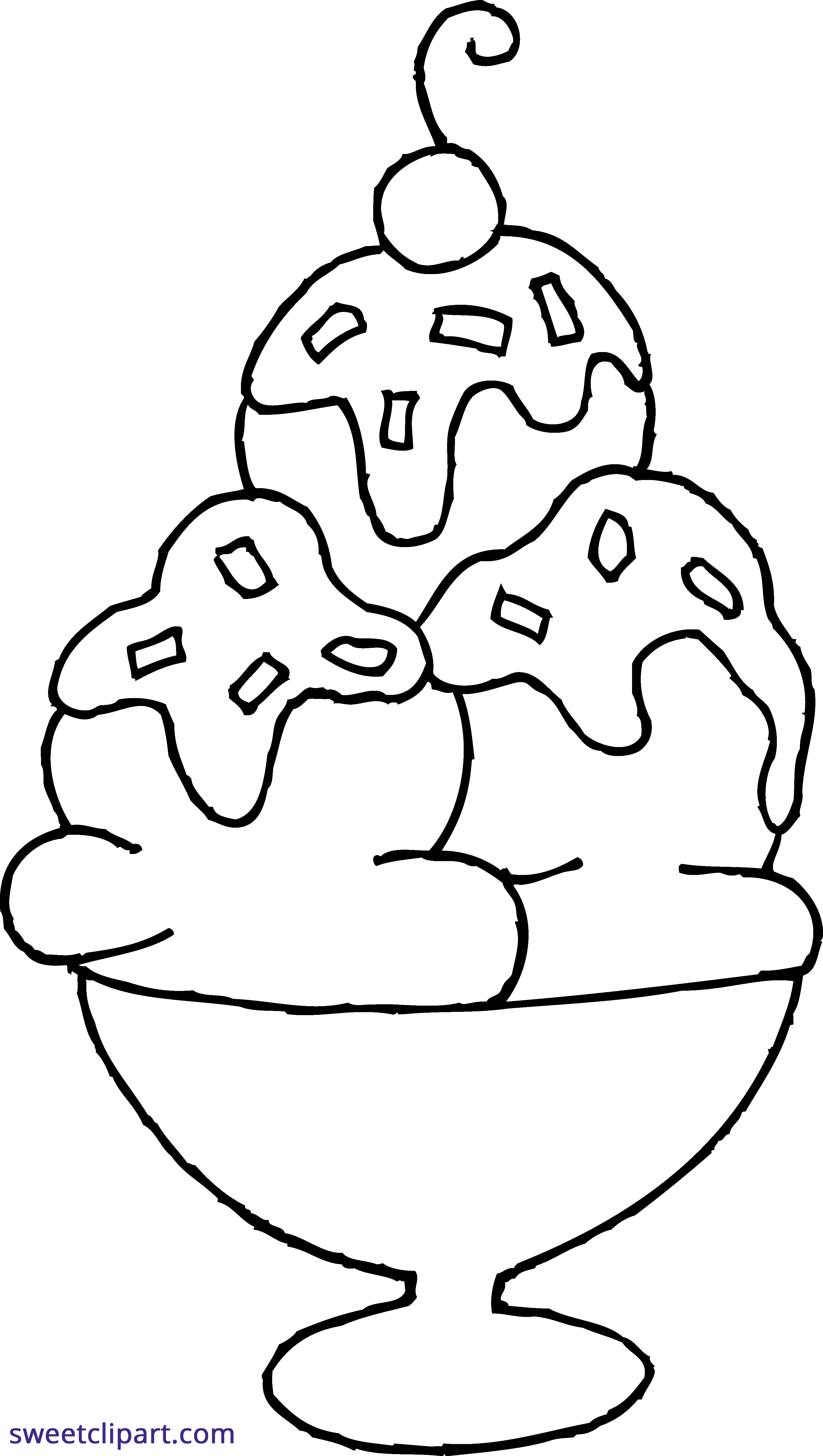 ice cream sundae coloring page clipart sweet clip art