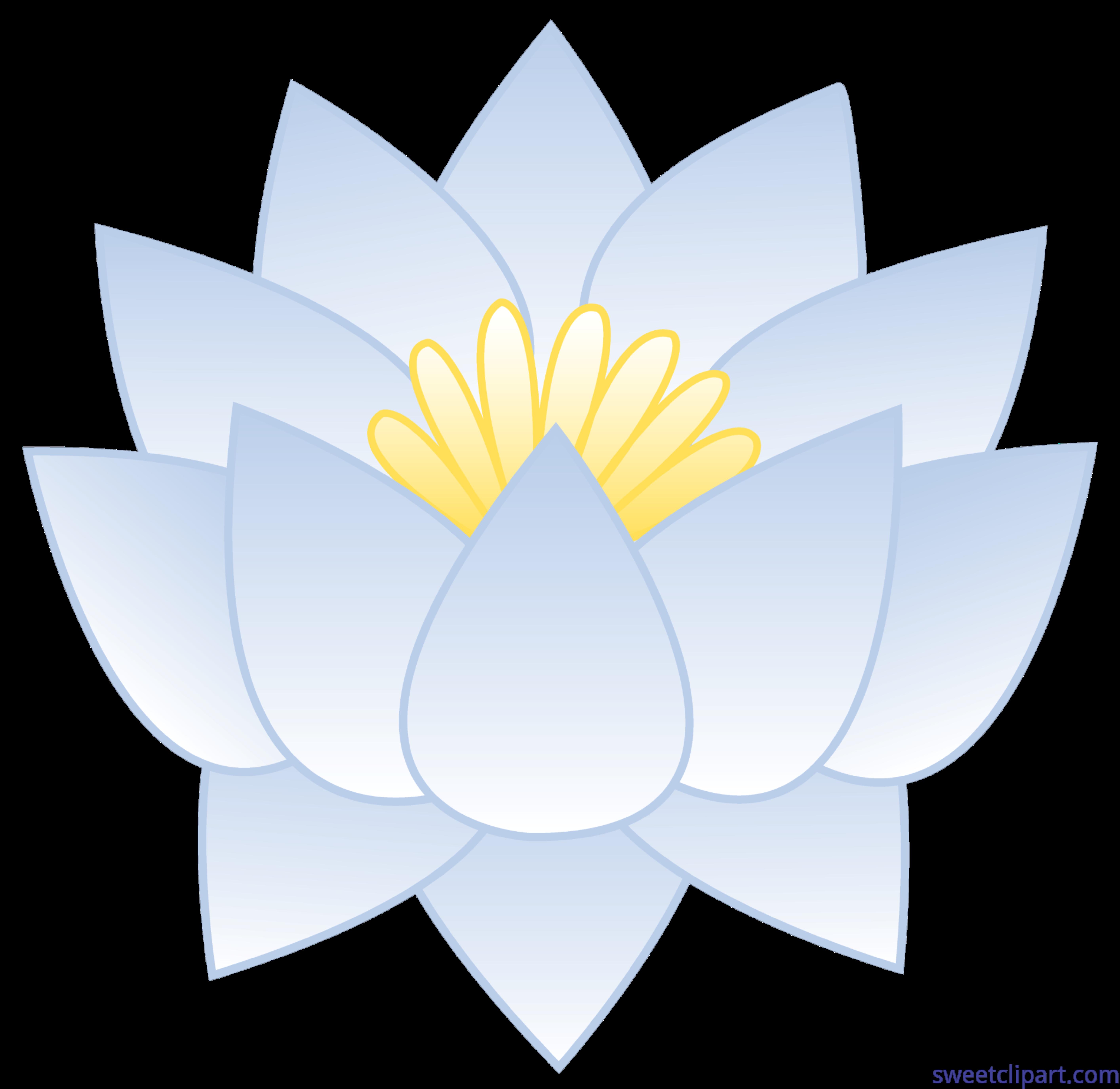 White Lotus Flower Clip Art Sweet Clip Art