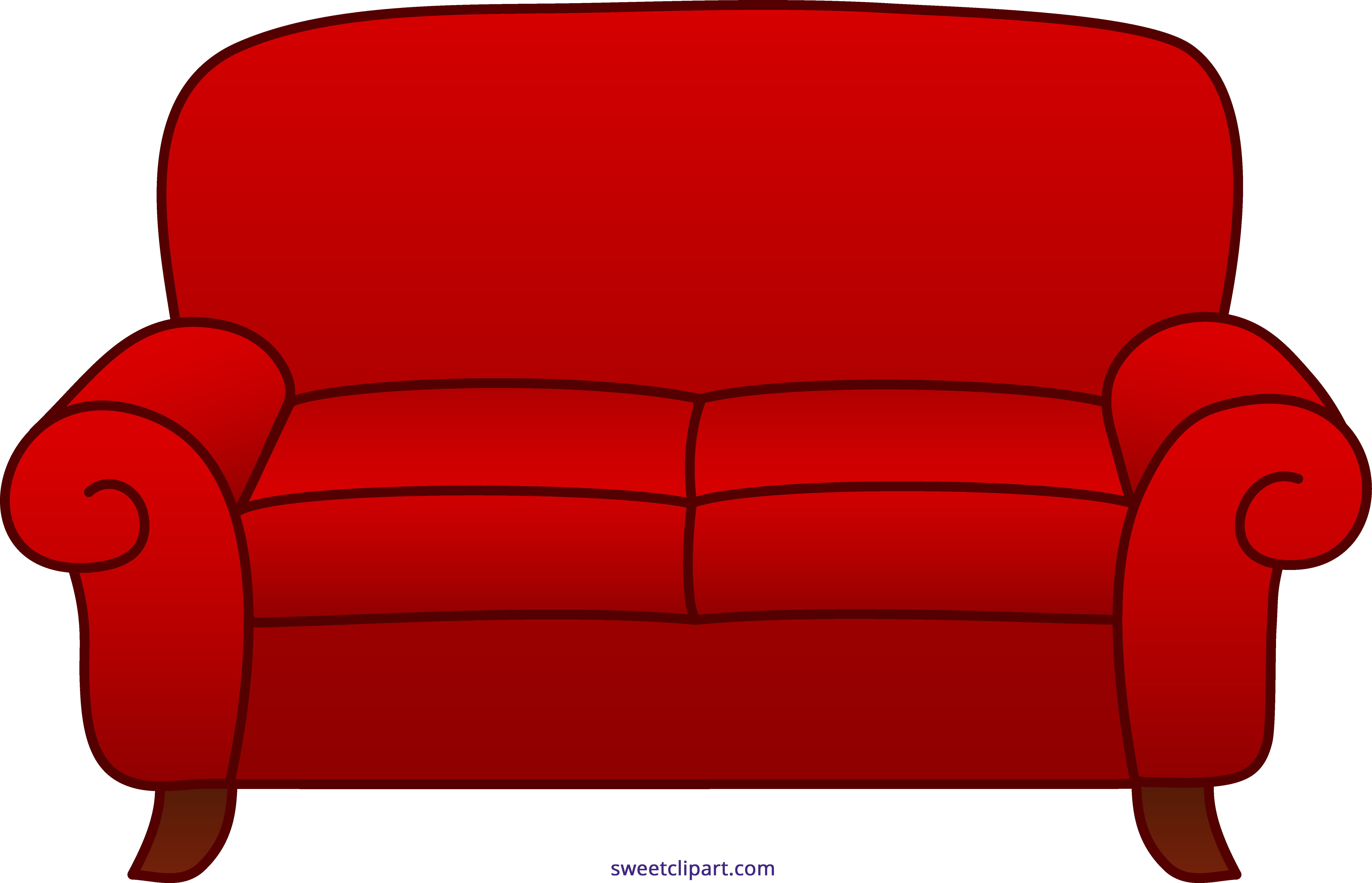 sofa red clipart sweet clip art rh m sweetclipart com clip art coach clipart couch symbol