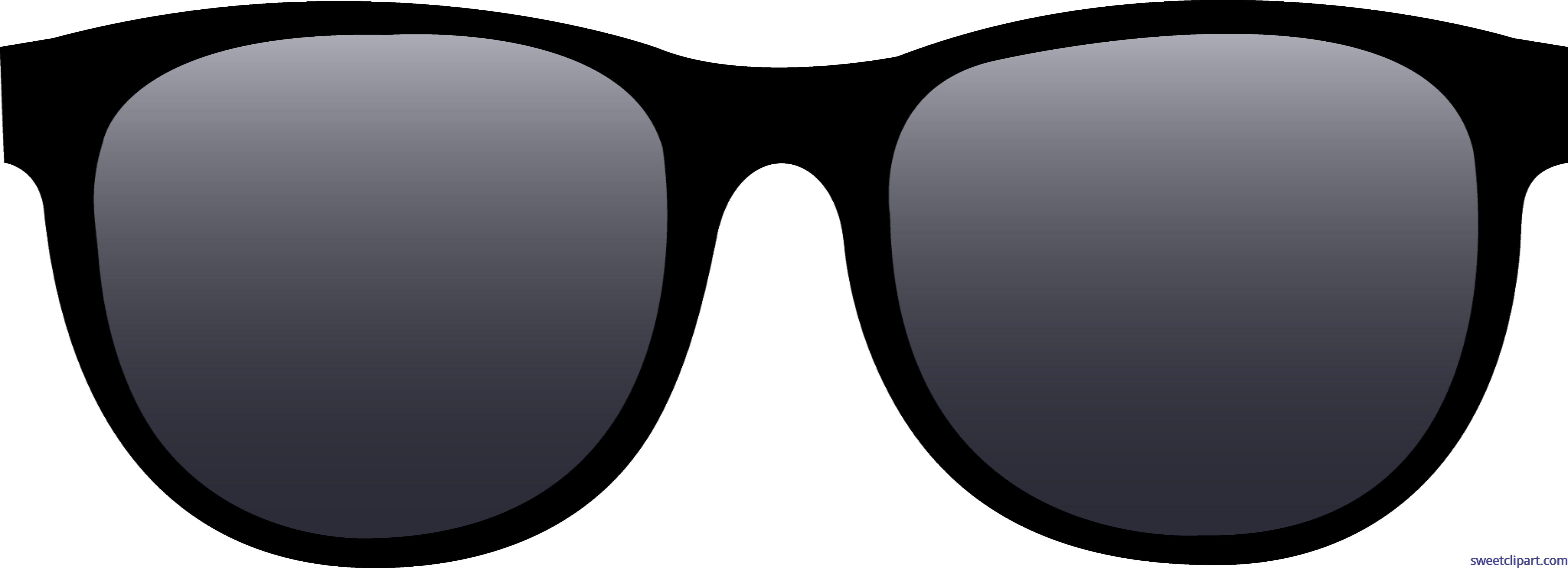 Sunglasses black. Clip art sweet