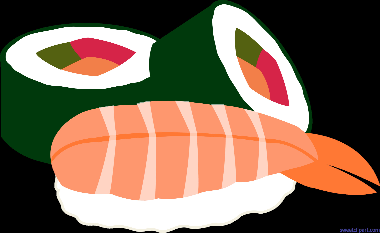 sushi rolls futomaki ebi clip art sweet clip art rh m sweetclipart com sushi clipart gif sushi clipart black and white