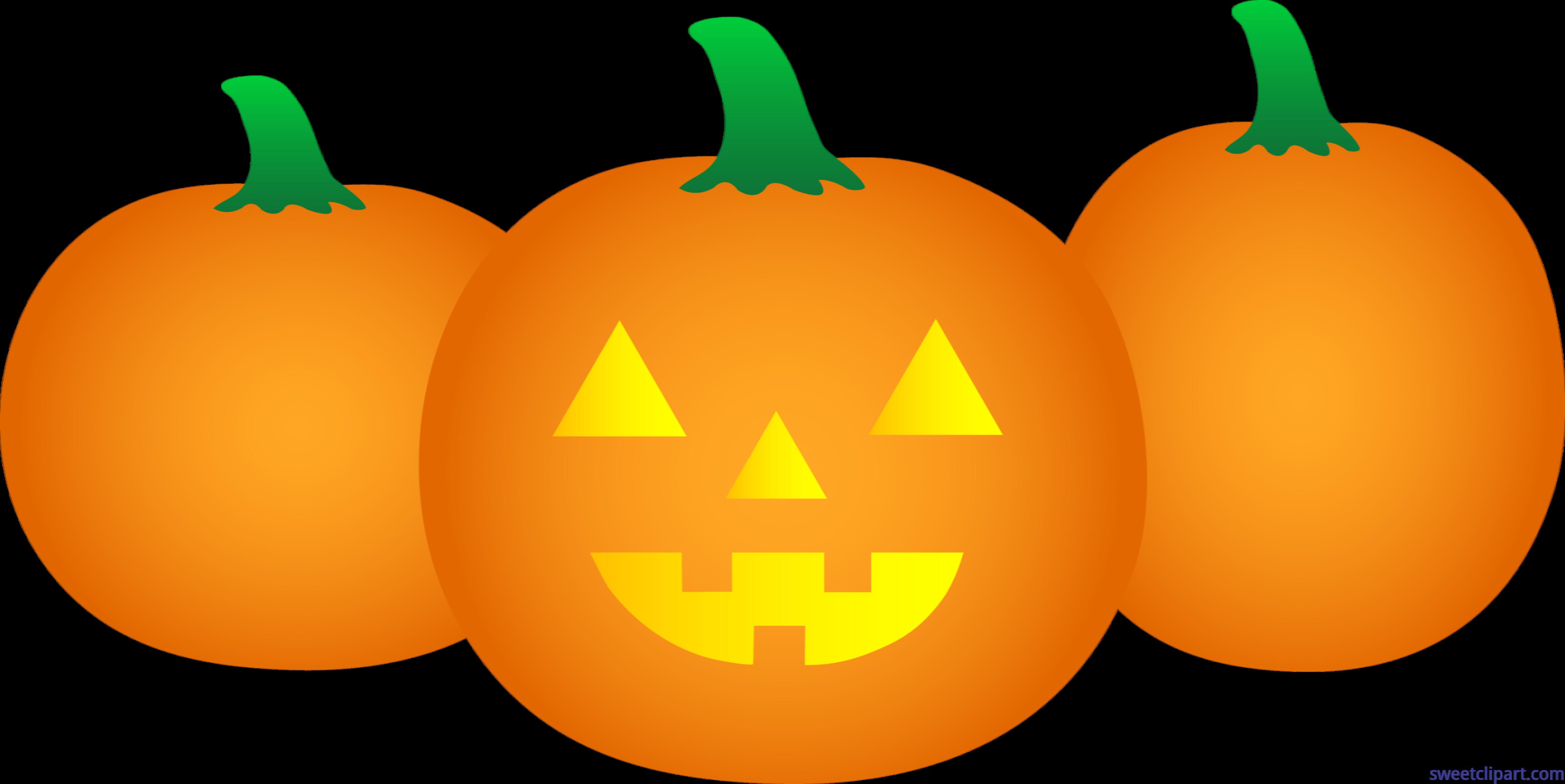 Halloween Pumpkin Images Clip Art.Three Halloween Pumpkins Clip Art Sweet Clip Art