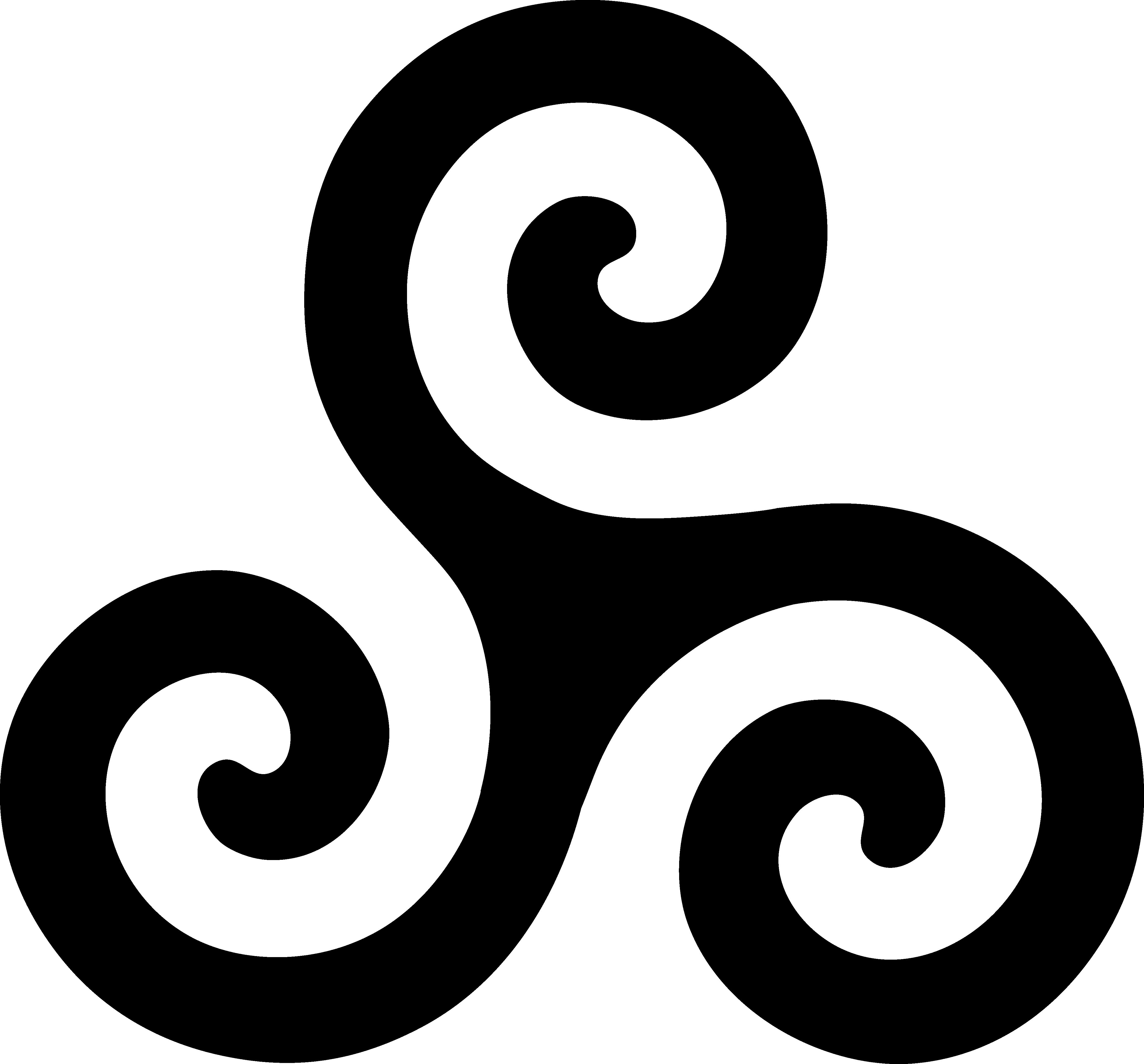 Triskele Symbol Black Clip Art Sweet Clip Art