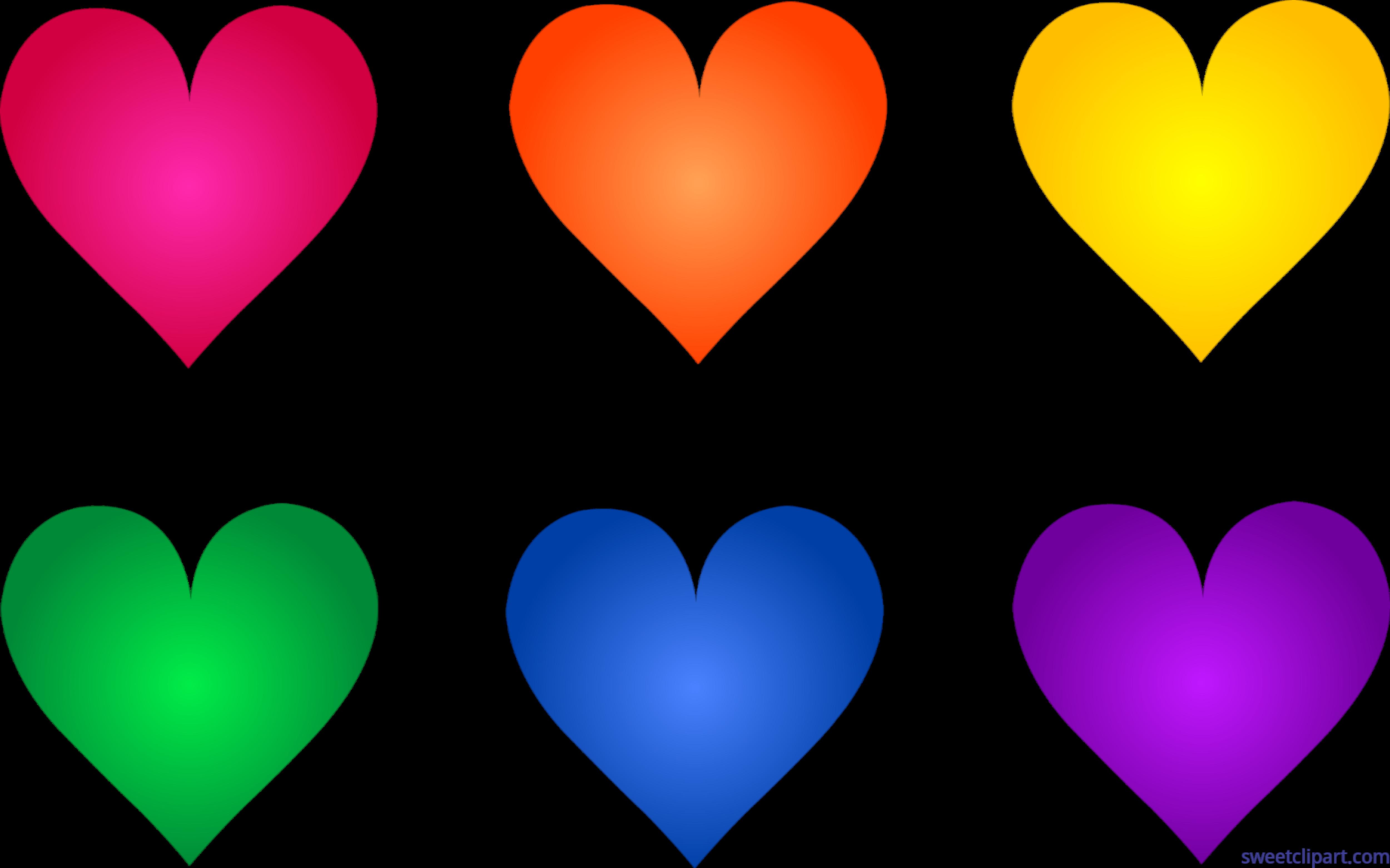 Valentines Symbols Hearts Set 1 Clip Art Sweet Clip Art